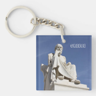 Socrates Greece Keychain