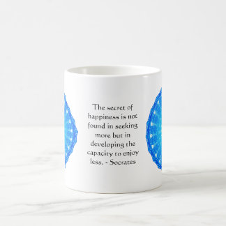 Socrates inspirational quote about Minimalism Basic White Mug