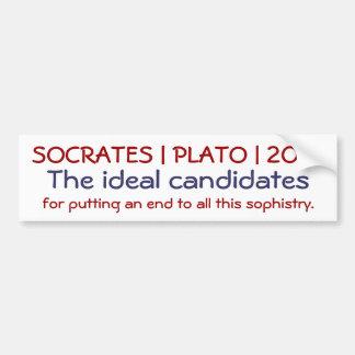 Socrates | Plato | 2012 Car Bumper Sticker
