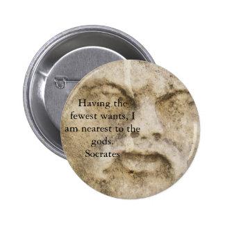 Socrates QUOTATION 6 Cm Round Badge