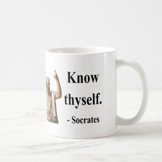 Socrates Quote 5b Basic White Mug