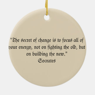 Socrates Quote Christmas Ornament