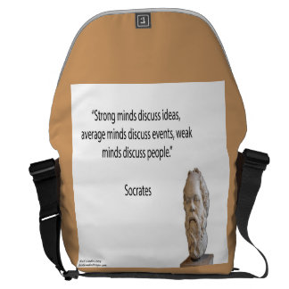 Socrates & Strong Minds Quote Messenger Bag Messenger Bags
