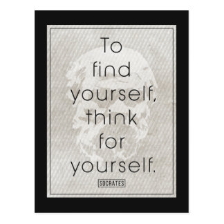 Socrates 'To find yourself, think for yourself' Postcard