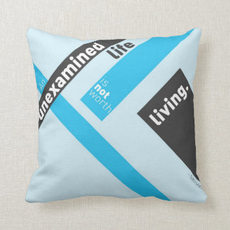 """Socrates """"Unexamined Life"""" Quote Cushion"""