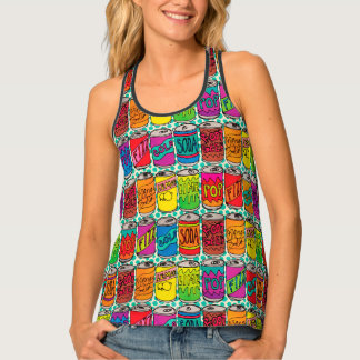Soda Pop Cans Singlet