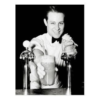 Soda Shop, 1936 Postcard