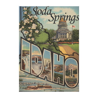 Soda Springs, Idaho - Large Letter Scenes Canvas Print