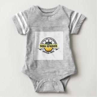 soda springs oregon trail art baby bodysuit