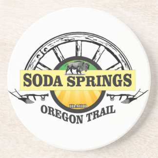 soda springs oregon trail art coaster