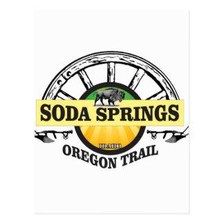 soda springs oregon trail art postcard