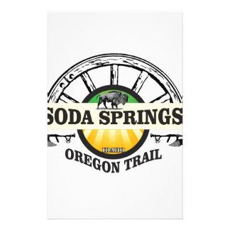soda springs oregon trail art stationery