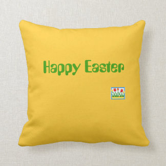 Sofa cushion yellow - fond Easter/Happy Easter