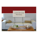Sofa Staging / Stager Photo Business Card