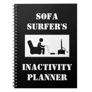 Sofa Surfer's Inactivity Planner Notebooks