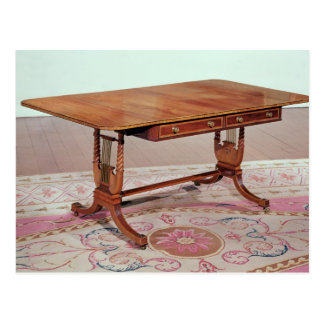 Sofa table with harp legs by Thomas Postcard