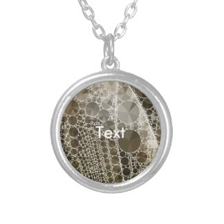 Sofia Bling Abstract Pattern Round Pendant Necklace