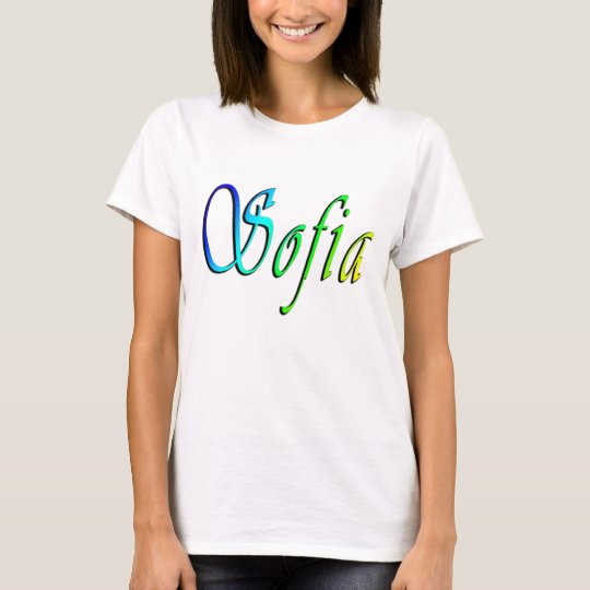 Sofia, Name, Logo, Ladies White T-shirt