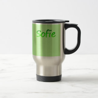 Sofie Light Green Stainless Steel Travel Mug
