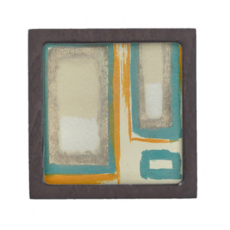 Soft And Bold Rothko Inspired Abstract Premium Jewelry Box