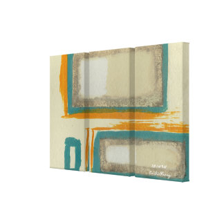 Soft And Bold Rothko Inspired Abstract Signed Gallery Wrapped Canvas