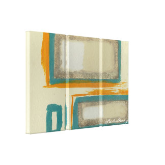Soft And Bold Rothko Inspired Abstract Stretched Canvas Prints