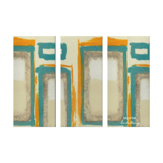 Soft And Bold Rothko Inspired Vertical Abstract Stretched Canvas Print