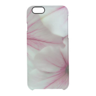 Soft and delicate Pink Petunias Clear iPhone 6/6S Case