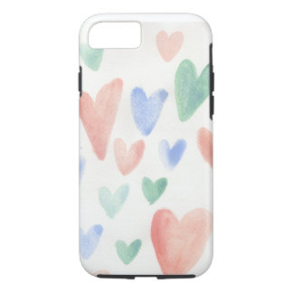 Soft and sweet hearts iPhone 7 case