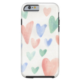 Soft and sweet hearts tough iPhone 6 case