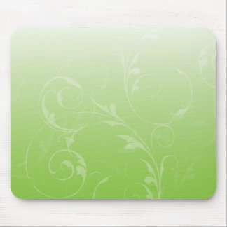 Soft and Wavy on Lime Mousepad