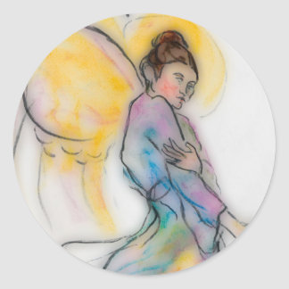 soft angel classic round sticker
