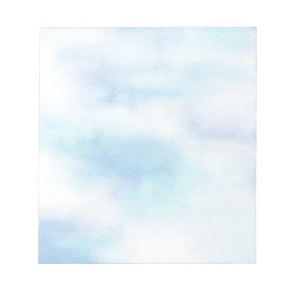Soft Aqua Blue Sky Notepad