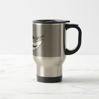 Soft ash steal travel mug