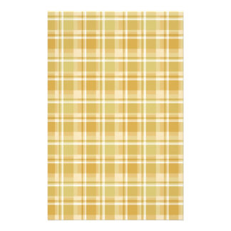 soft autumn plaids stationery