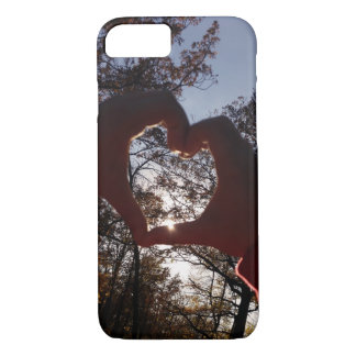 Soft Autumn Sunset Heart Case