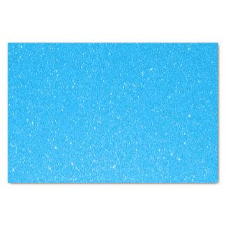 Soft Baby Blue Glitter Print Tissue Paper