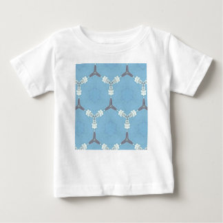 Soft Baby Blue White Gray Geometric Pattern Baby T-Shirt