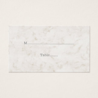 Soft Beige Elegant Marble Wedding Place Cards