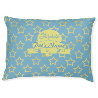 Soft Blue and Soft Yellow Stars with Monogram
