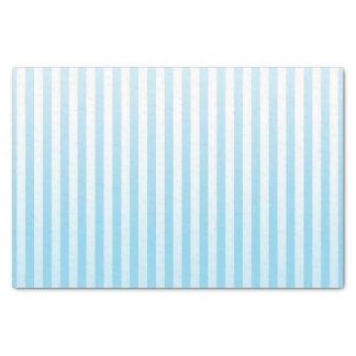 Soft Blue and White Stripes Tissue Paper