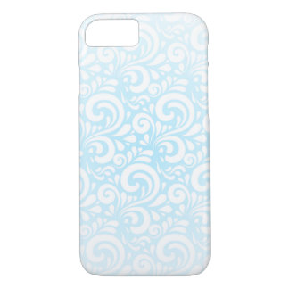 Soft Blue and White Swirls iPhone 7 Case