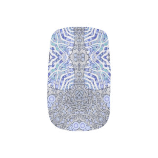 Soft Blue Animal Print Nail Stickers
