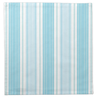Soft Blue , Aqua and White Seaside Stripe Pattern Napkin