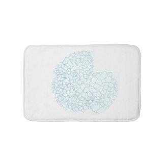 Soft Blue Hydrangea Bath Mat