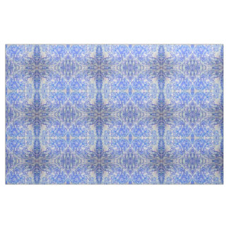 Soft Blue Mirrored Nature Fabric