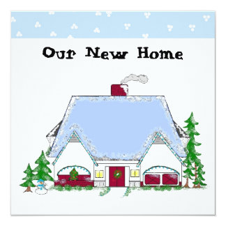 Soft Blue New Home Announcement