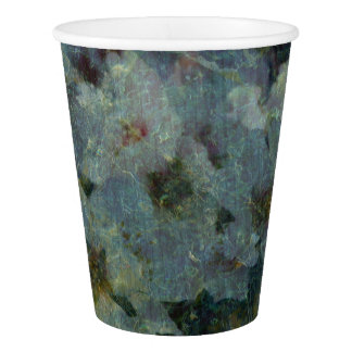 Soft Blue Orchard impressionist Paper Cups