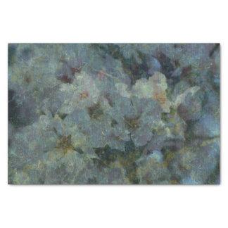 Soft Blue Orchard impressionist Tissue Paper