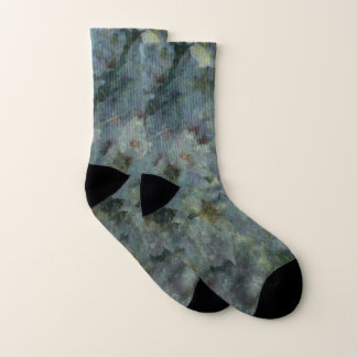 Soft Blue Orchard Socks 1